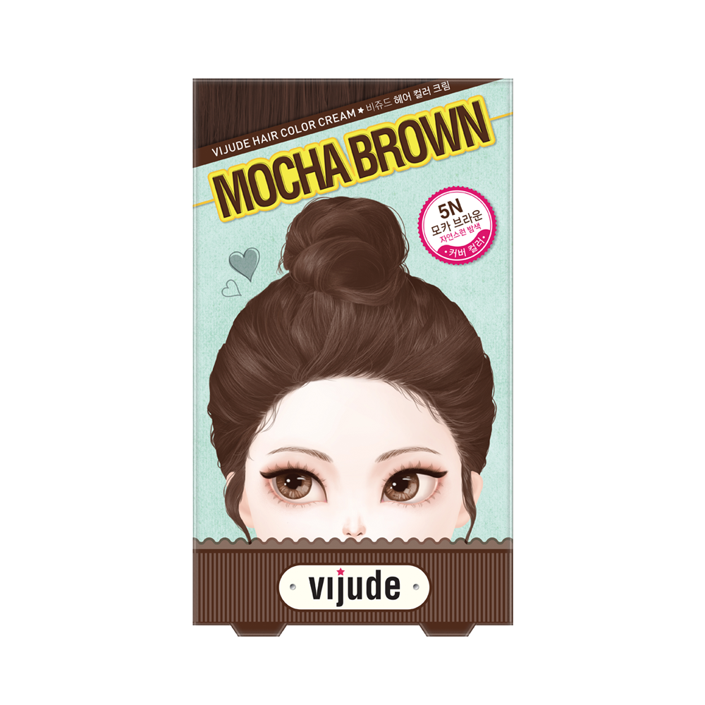 Vijude Hair Color Cream (5N Mocha Brown)