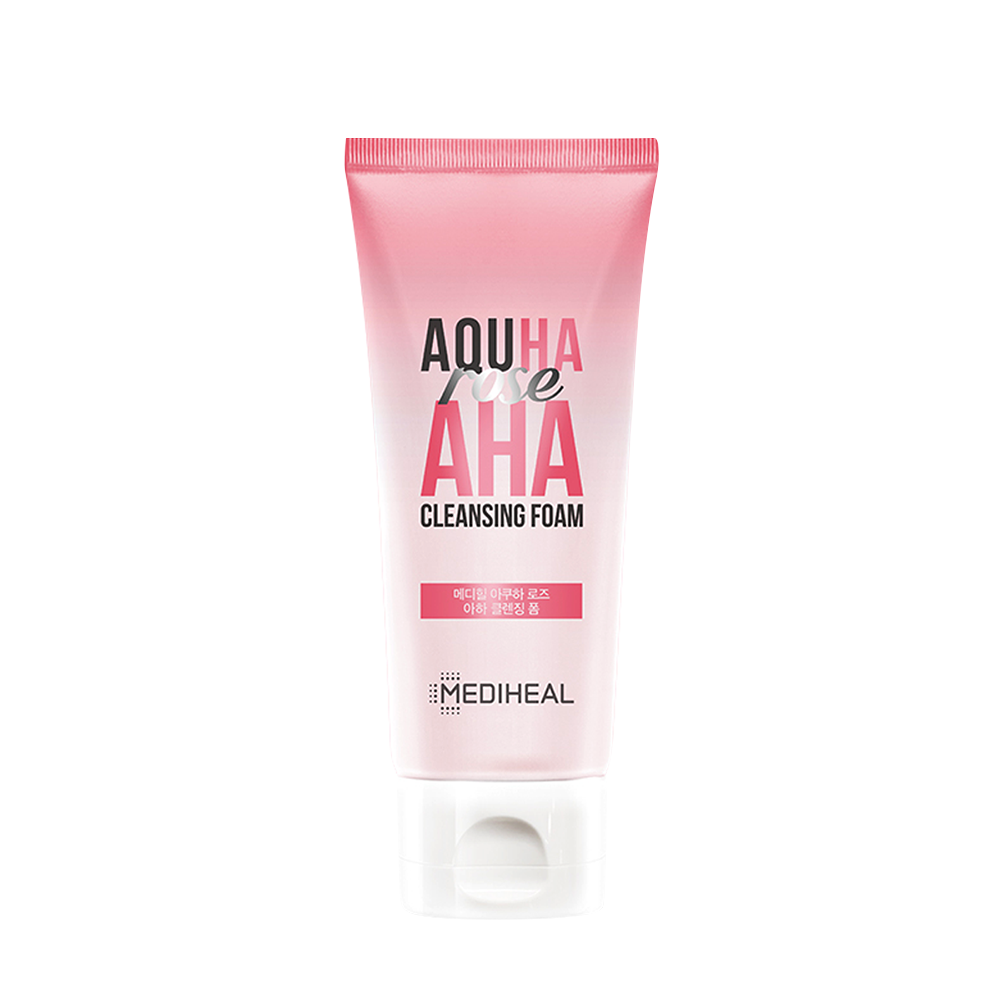Mediheal Aquha Rose AHA Cleansing Foam