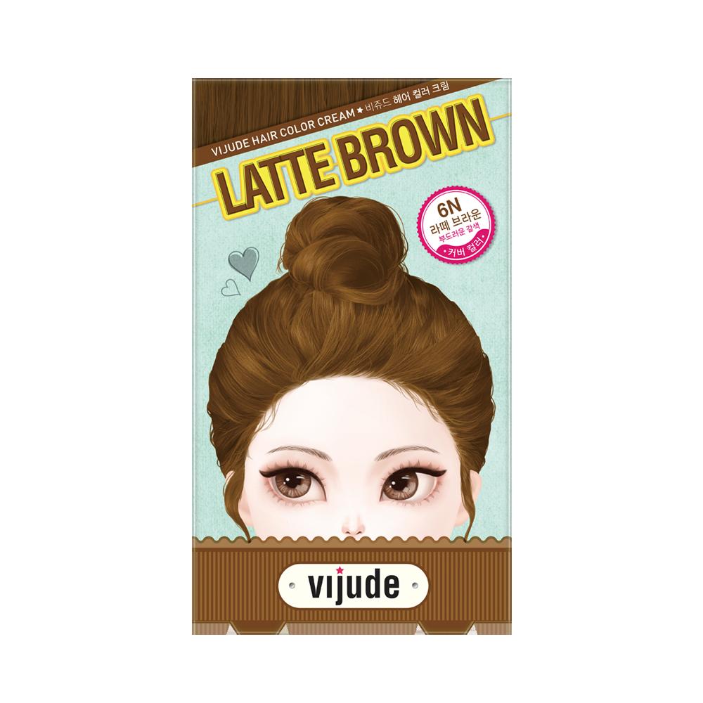 Vijude Hair Color Cream (6N Latte Brown)