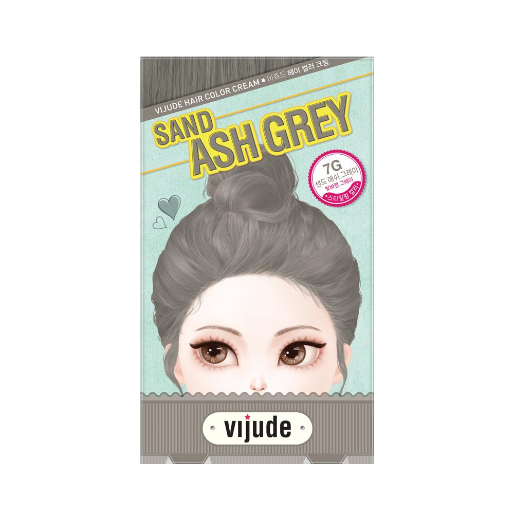 Vijude Hair Color Cream (7G Sand Ash Grey)